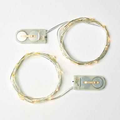 1m Φώτα σε Κορδόνι 10 LEDs Θερμό Λευκό Διακοσμητικό 3 V 1set