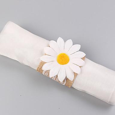 preiswerte Servietten für die Hochzeit-100% Leinen Hochzeit Servietten - 4 pcs Serviettenringe Hochzeit / Festival Klassisch / Kreativ