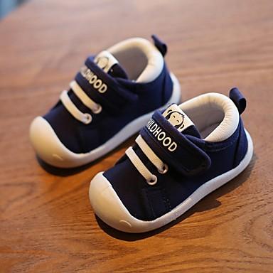 저렴한 아동 스니커즈-남아 첫 신발 캔버스 운동화 유아 (9m-4ys) 다크 블루 / 레드 가을