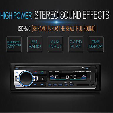 levne Auto Elektronika-swm jsd-520 1 din 12v autorádio stereo rádio in-dashbluetooth v2.0 rádio fm přijímač fm aux vstup sd usb mp3 rádio přehrávač lcd digitální obrazovka diaplay čas černá