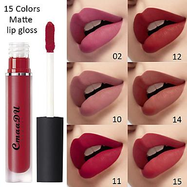 preiswerte Lipgloss-cmaadu sexy 15 farben flüssiger lippenstift matt samt lipgloss lip glasur wasserdicht dauerhafte lippen make-up kosmetik