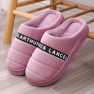 voordelige Damespantoffels & slippers-Dames Slippers & Flip-Flops Platte hak Ronde Teen Imitatiebont Informeel Wandelen Winter Fuchsia / Roze
