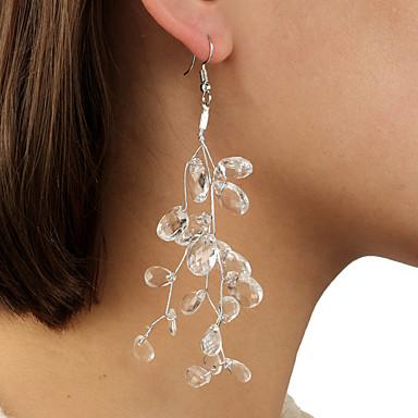 povoljno Modne naušnice-Žene Naušnica Geometrijski vjerovati Naušnice Jewelry Bež / bijelo Za Dnevno 2pcs
