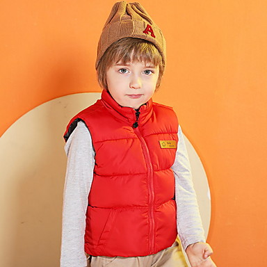 cheap Baby & Kids-Kids Boys' Street chic Solid Colored Vest Blue