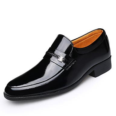 levne Shoes Trends-Pánské Kožené boty Kůže Jaro / Podzim zima Bristké Nokasíny Neklouzavá Černá / Světle hnědá