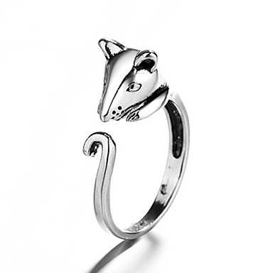 levne Pánské šperky-Pánské Dámské Prsten 1ks Stříbrná Měď Kulatý Vintage Základní Módní Festival Šperky Myš Zvíře Půvab