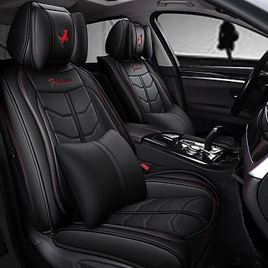 billige Interiørtilbehør til bilen-5stk / sett fem seter bilstolpute fire-sesong universell sportsbil setetrekk inkludert 2 nakkestøtter og 2 korsrygg kompatibel med kollisjonspute.