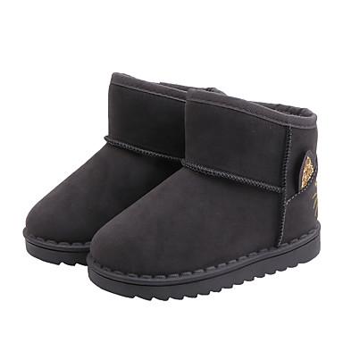 preiswerte Schuhe für Kinder-Mädchen Schneestiefel PU Stiefel Kleine Kinder (4-7 Jahre) / Große Kinder (ab 7 Jahren) Schwarz / Grau / Rosa Herbst / Winter