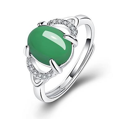 billige Motering-Dame Ring 1pc Rød Grønn Kobber Sirkelformet Vintage Grunnleggende Mote Gave Ferie Smykker Kors Pære Smuk