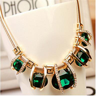 povoljno Modne ogrlice-Žene Kristal Ogrlica Geometrijski tkati Moda Krom Svijetlo zelena 45+5 cm Ogrlice Jewelry 1pc Za Praznik