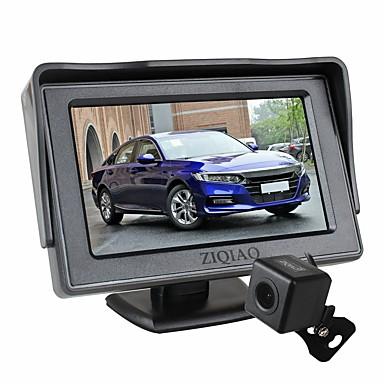 billige Bil Elektronikk-ziqiao 4,3 tommers sammenleggbar bilmonitor tft lcd-skjermkameraer omvendt parkeringssystem for bil bakovervåkningssett