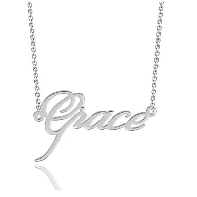 cheap Engraved Necklaces-Personalized Customized Necklace Name Necklace Gift Daily Holiday irregular 1pcs Silver / Laser Engraving