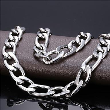 povoljno Modne ogrlice-Muškarci Lančići Ogrlica Luka Figaro Mariner Chain Jednostavan Moda 18K pozlaćeni Titanium Steel Crn Zlato Srebro 55 cm Ogrlice Jewelry 1pc Za diplomiranje Dar Dnevno Škola