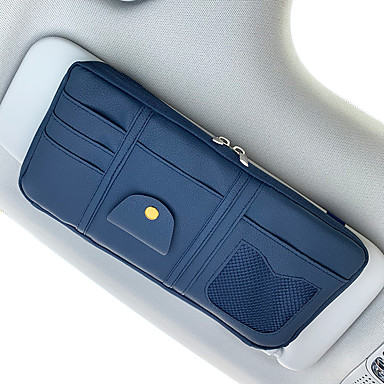 levne Doplňky do interiéru-organizéry do auta cd pouzdro / držitel karty / brýle klipy pu kůže / nylon / auto sluneční clona úložná taška