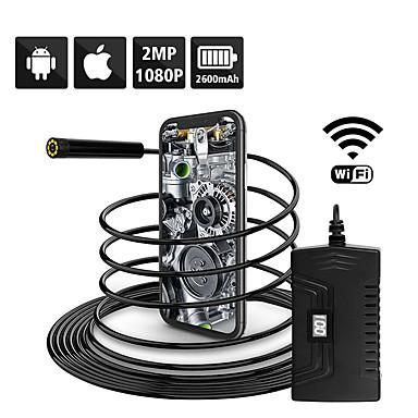 levne Mikroskopy a endoskopy-1080p polotuhá wifi inspekční kamera 2.0mp hd vodotěsná hadí kamera s 6 vedenými pro androidios smartphone macbook os
