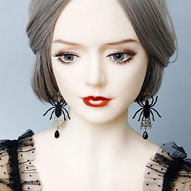 povoljno Modne naušnice-Žene Viseće naušnice Naušnica Retro Pauci Statement Vintage pomodan Moda Naušnice Jewelry Crn Za Halloween Klub 1 par