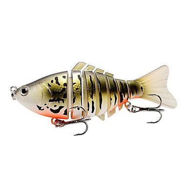 1 pcs Hard Bait Vibration Hard Bait Vibration หลอกล่อ Sinking Bass ปลาเทราท์ หอก ตกปลาทะเล เบทคาสติ้ง การตกปลาคารฺ์พ พลาสติกแบบแข็ง Metal / เหยื่อตกปลา / รอก & ตกปลาบนเรือ