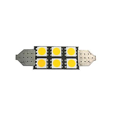 billige Automotiv-1stk 42mm bilpærer 2 w smd 5050 80 lm 6 led lamper / innvendige lys for