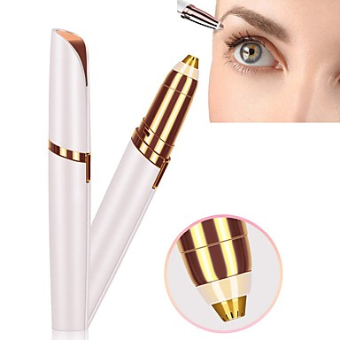 cheap Makeup & Skin Care-Electric Eyebrow Trimmer Shaver Perfect Brows New Portable Electric Eye Brow Shaping Machine Makeup