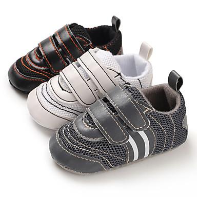 preiswerte Neu Eingetroffen-Jungen / Mädchen Lauflern Kunststoff Sneakers Kleinkinder (0-9 m) / Kleinkind (9m-4ys) Weiß / Schwarz / Grau Frühling / Herbst