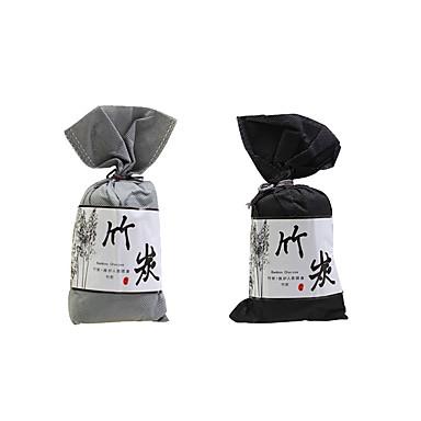 billige Interiørtilbehør til bilen-5stk bambus kullpose klutlomme luftfrisker for dekorasjon av biler huset luktabsorberende