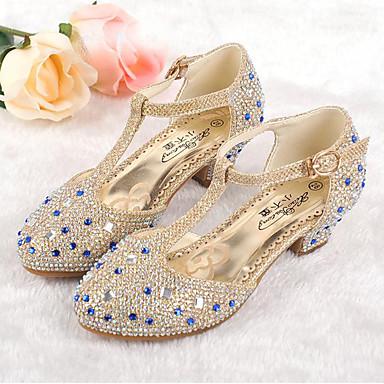 preiswerte Schuhe für Kinder-Mädchen Komfort / Tiny Heels für Teens Kunststoff High Heels Große Kinder (ab 7 Jahren) Glitter Gold / Silber / Rosa Frühling