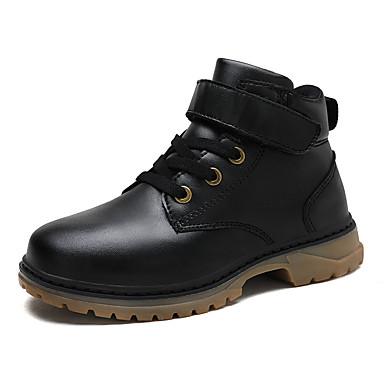 preiswerte Schuhe für Kinder-Jungen Springerstiefel PU Stiefel Große Kinder (ab 7 Jahren) Braun / Schwarz Herbst / Mittelhohe Stiefel