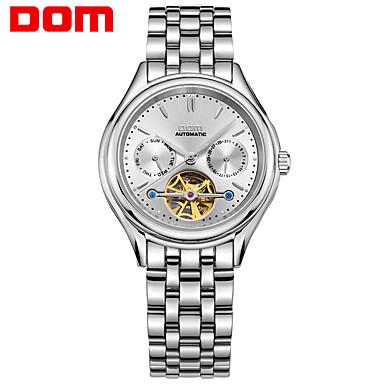 levne Pánské-Pánské mechanické hodinky japonština Automatické natahování Retro styl Moderní styl Nerez Stříbro 50 m Kalendář Analogové Luxus Módní - Stříbrná