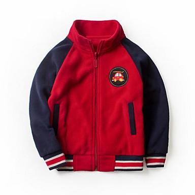 povoljno Odjeća za dječake-Djeca Dječaci Osnovni Color block Jakna i kaput Bijela