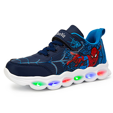 cheap For ages 7yrs+-Boys' / Girls' LED Shoes PU Athletic Shoes Little Kids(4-7ys) / Big Kids(7years +) Walking Shoes LED Black / Red / Blue Fall / Winter / Rubber