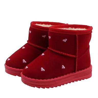 preiswerte Schuhe für Kinder-Mädchen Schneestiefel Mikrofaser / PU Stiefel Kleine Kinder (4-7 Jahre) / Große Kinder (ab 7 Jahren) Schwarz / Rot Herbst / Winter