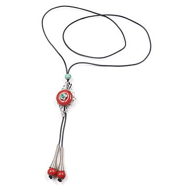 povoljno Modne ogrlice-Žene Ogrlice s privjeskom Y Ogrlica Klasičan Cvijet Vintage Boho Žica Drvo Krom Svijetlo zelena Crvena 62 cm Ogrlice Jewelry 1pc Za Karneval Ulica
