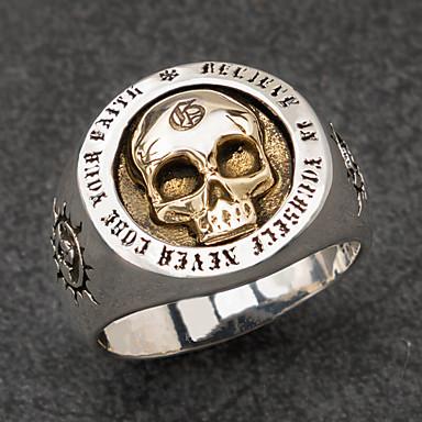 voordelige Herensieraden-Heren Ring 1pc Zilver Legering Onregelmatig Vintage modieus Etnisch Dagelijks Sieraden Vintagestijl Zon Schedel