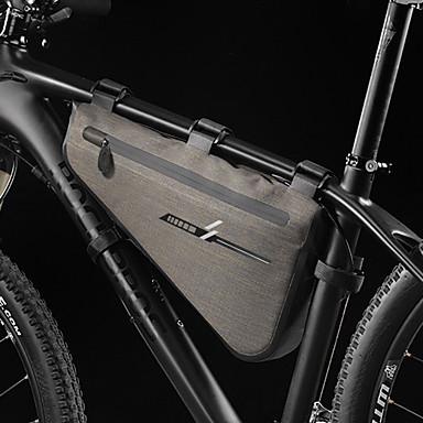 preiswerte Radtaschen-8 L Fahrradrahmentasche Wasserdicht Regendicht Radfahren Fahrradtasche 600D Ripstop 420D Nylon Tasche für das Rad Fahrradtasche Radsport Outdoor Übungen Motorrad