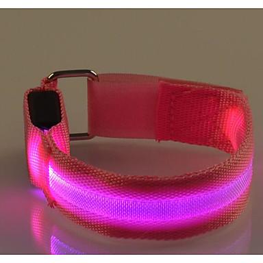 preiswerte Reflektierende Kleidung und Accessoires-LED-Joggingarmband Refklektierendes Band Reflektierender Gürtel für