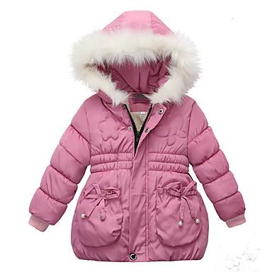 povoljno Odjeća za bebe-Dijete Djevojčice Aktivan Jednobojni Naborano Normalne dužine Pernata i pamučna podstava Blushing Pink