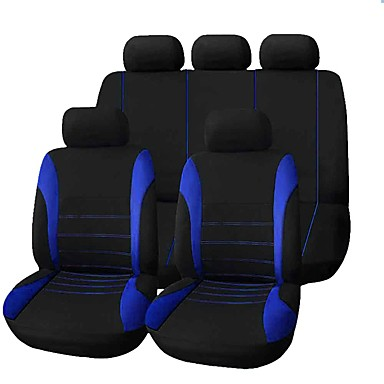 cheap Car Seat Covers-9pcs/set Car Seat Cover Comfortable Dustproof Seat Protector Cloth Art Protect Cushion Car Seats Car-styling Car Interior Automobiles Universal Full Seat Pad Cover