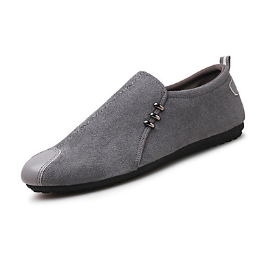 cheap Men's Shoes-Men's Moccasin PU Fall / Spring & Summer Classic / Casual Loafers & Slip-Ons Walking Shoes Breathable Black / Gray / Outdoor / Driving Shoes
