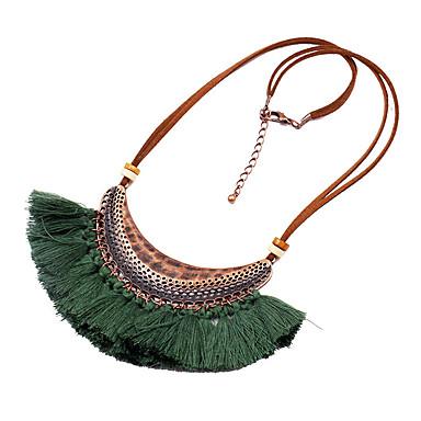 povoljno Modne ogrlice-Žene Ogrlice s privjeskom Rese Vintage Boho Žica Krom Svijetlo zelena Bijela Crvena Plava Bež 46 cm Ogrlice Jewelry 1pc Za Karneval Ulica