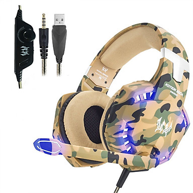 cheap Headphones & Earphones-KOTION EACH G2600 Headphones Gaming Headset Stereo Noise Cancelling Wired Earphone with Mic LED Lights For Desktop PC Laptop PS4