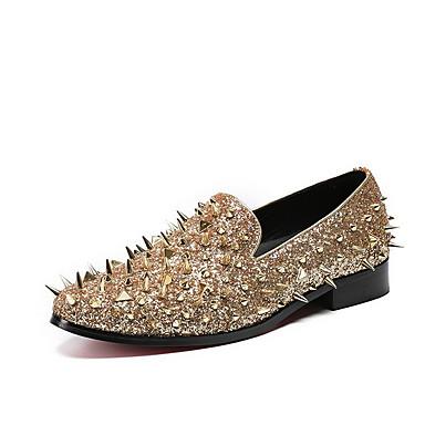 preiswerte Damen Ballerinas-Damen Flache Schuhe Flacher Absatz Spitze Zehe Leder Sommer Grau