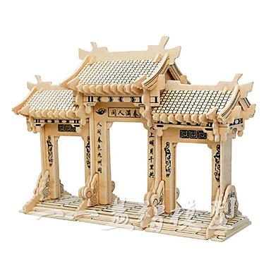 levne 3D puzzle-3D puzzle Modele Dřevěný model Čínské stavby Zábava 1 pcs Klasické Dětské Hračky Dárek