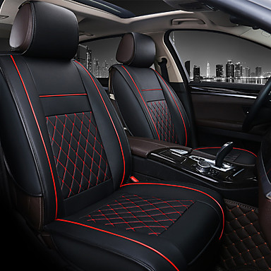 cheap Car Seat Covers-PU Leather Breathable Non-slip Car Seat Covers Cushion Accessories Single seat cover without headrest and lumbarrest for Universal