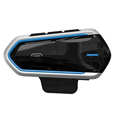 cheap Motorcycle Helmet Headsets-Motorcycle Helmet Headset MP3 Microphone with bluetooth Function Blue Frame  CSR Bluetooth 4.1 Headset Interphone QTB35