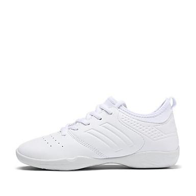 preiswerte Shall We® Tanzschuhe-Damen Tanzschuhe Kunstleder Jazztanzschuhe Sneaker Starke Ferse Maßfertigung Weiß