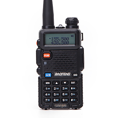 1PCS Baofeng UV-5R Walkie Talkie UHF VHF Portable CB Ham Radio Station Amateur Police Scanner Radio Intercome HF Transceiver UV5R Earphone