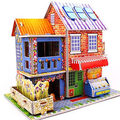 voordelige 3D-puzzels-3D-puzzels Legpuzzel Modelbouwsets Beroemd gebouw Huis DHZ Hard Kaart Paper Klassiek Anime Cartoon Kinderen Unisex Speeltjes Geschenk