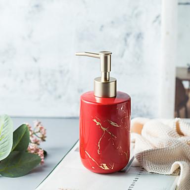 [$22.64] Nordic Marble Texture 300ml Ceramic Soap Dispenser Four Colors  Optional kitchen Hand Sanitizer Bottle Shower Gel Bottle Bathroom  Accessories