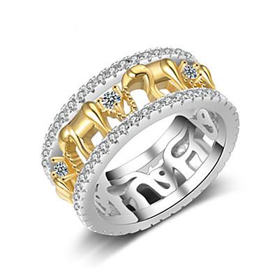 levne Pánské šperky-Pánské Dámské Prsten 1ks Zlatá Měď Kulatý Vintage Základní Módní Festival Šperky Slon Zvíře Cool