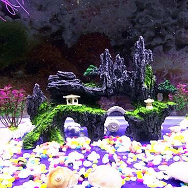 preiswerte Accessoires für Fische & andere Aquarientiere-Aquarium Aquarium Dekoration Stein Steine Fisch Glas Verzierungen Steine Felsvorsprung Nicht - giftig & geschmacklos Harz 1 Stück